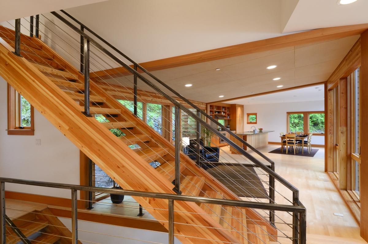 escalier orange contemporrain